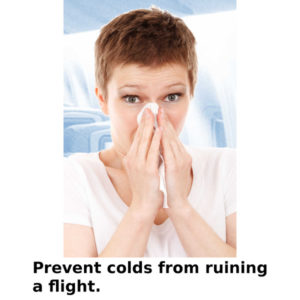 how to avoid catching a cold on a flight