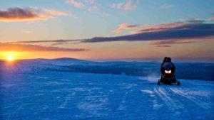 Take a trip on a snow-mobile