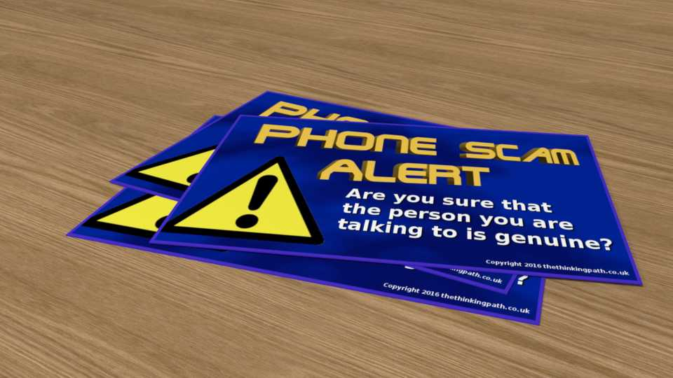 Download this phone scam warning leaflet