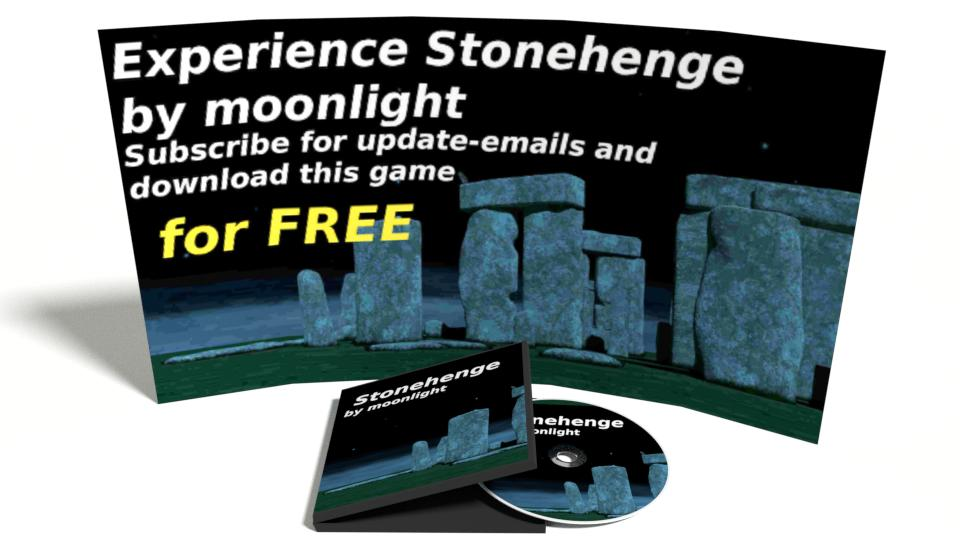 Game set display Stonehenge