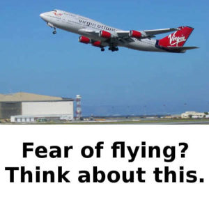 Fear of flying? Think about this.