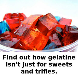 Gelatin can smooth the wrinkles_