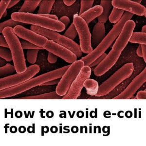 e coli food poisoning