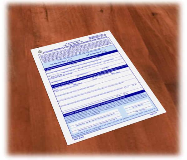 Form DS-64 lost passport USA