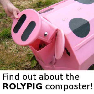 See how to make compost with the Rolypig on The Thinking Path.